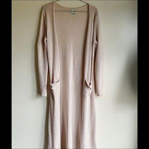Maxi sweater Anthropologie Waffle knit